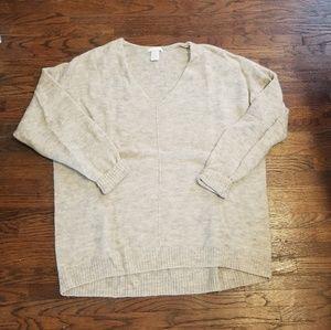 H&M V Neck Cream Sweater